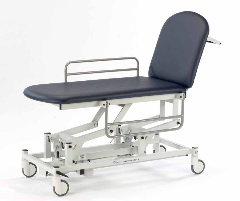 Examination Couches 2 Section with Wheels